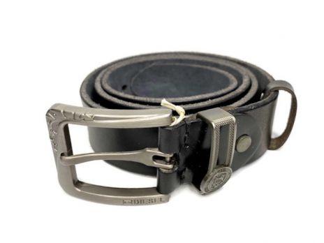 Кожаный ремень Diesel Black