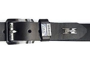 Кожаный ремень Diesel Black (Дизель)_4