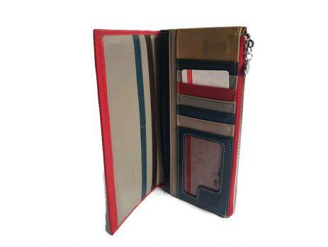 Кожаный женский кошелек Cossroll 12-9701 Красный