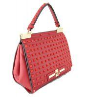 Кожаная сумка Valentino Red