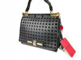 Женская кожаная сумка Valentino garavani 48714 Black