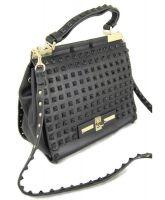 Женская кожаная сумка Valentino VL 48714 Black (чёрный)