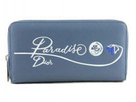 Кожаный женский кошелёк на молнии Christian Dior 5703 N