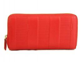 Кожаный женский кошелек на молнии Fendi 2704 E