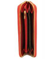 Кожаный женский кошелек на молнии Fendi 2704 E_1