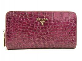 Кошелек женский кожаный на молнии Prada P29-025 Purple_0