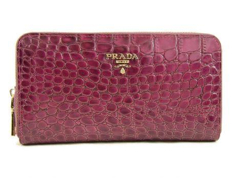 Кошелек женский кожаный на молнии Prada P29-025 Purple