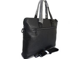 Кожаная деловая сумка Versace (Версачи)_1