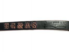 Кожаный джинсовый ремень Техас_4