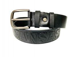 Ремень кожаный Kansas black