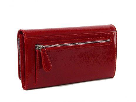 Кошелёк кожаный женский Petek 5094 красный