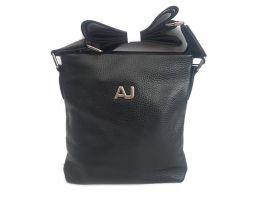 Сумка планшет кожаная AJ A04 Black