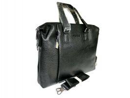 Мужская кожаная деловая сумка Heanbag 66314H Black_1
