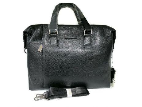 Мужская кожаная деловая сумка Heanbag 66314H Black