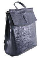 Рюкзак женский кожаный синий NN 8504-7