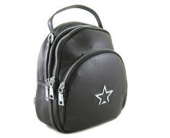 Рюкзак женский кожаный Polina & Eiterou 929 Black