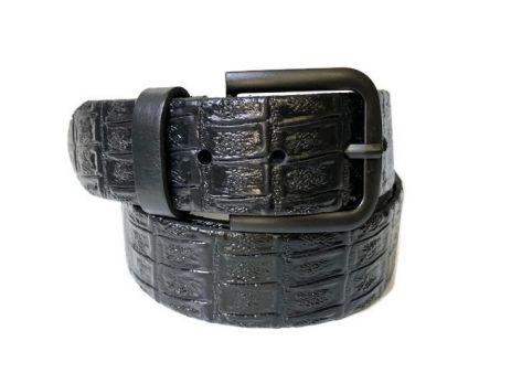 """Ремень кожаный с тиснением """"Медведь"""" RML-4003"""