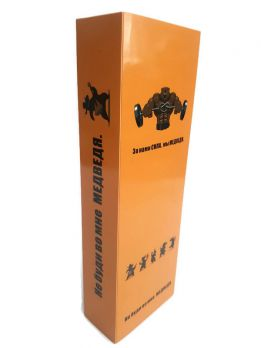 """Кожаный ремень """"Сибирский медведь"""" в упаковке"""