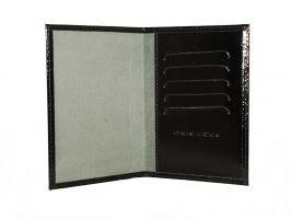 Обложка на паспорт Черный глянец_1