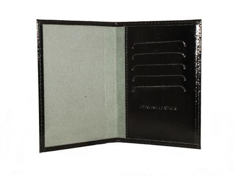 Обложка на паспорт Черный глянец