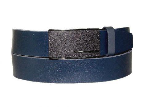 Ремень кожаный с пряжкой зажим MZJM-3502 Blue