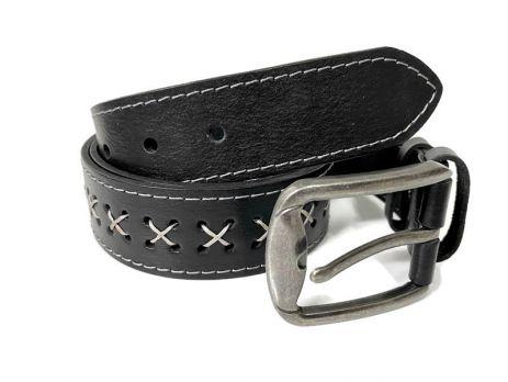 Кожаный ремень для джинсов Медведь RMK-4001gr