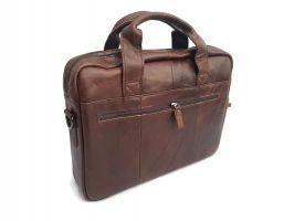 Мужская кожаная сумка ZZNICK 11018 coffee_2