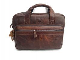 Мужская кожаная сумка ZZNICK 11018 coffee_1