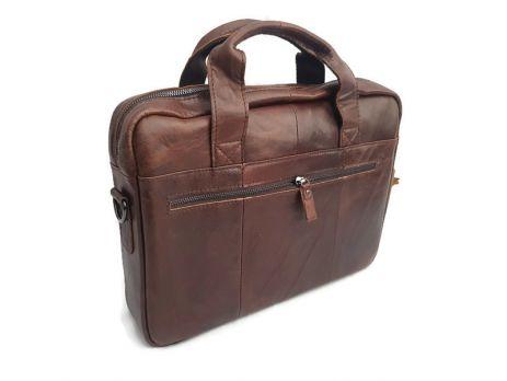 Мужская кожаная сумка ZZNICK 11018 coffee