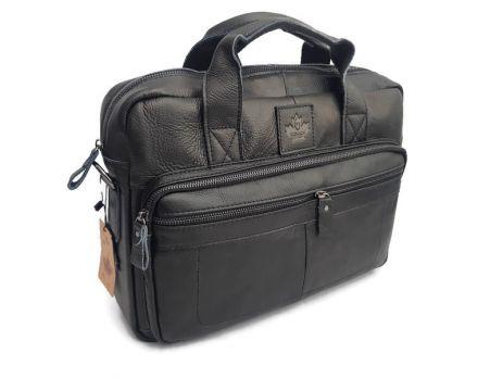 Мужской кожаный портфель ZZNICK 11018 Black