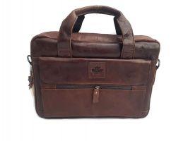 Мужская кожаная сумка-портфель Canada Brown_1