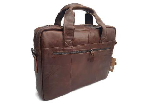Мужская кожаная сумка-портфель Canada Brown