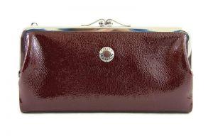 Кошелек женский кожаный Petek 5100 Bordo с внешней монетницей_0