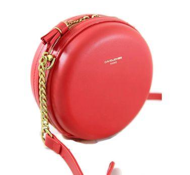 Сумка круглая женская David Jones 5658 Red