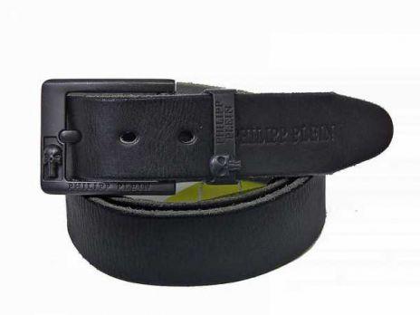 Ремень кожаный Philipp Plein black