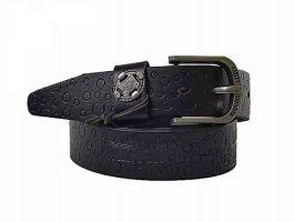 Кожаный ремень брендовый HD 879 Black_0