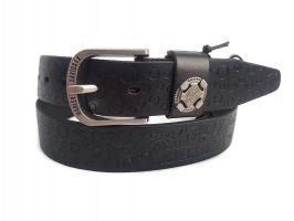 Кожаный ремень брендовый HD 879 Black_2