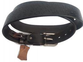 Кожаный ремень брендовый HD 879 Black_3