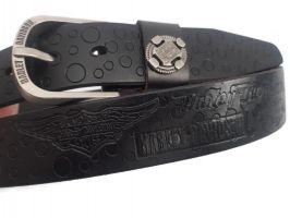 Кожаный ремень брендовый HD 879 Black_1