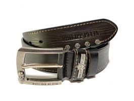 Ремень кожаный Philipp Plein dark brown_1