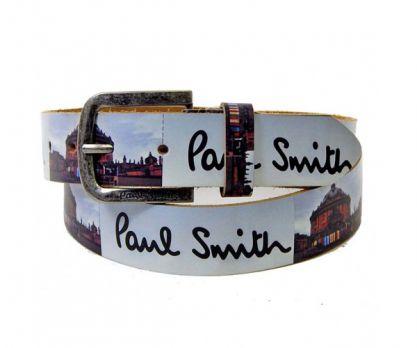 Ремень кожаный Paul Smith white