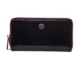 Кожаный женский клатч-кошелёк Petek 5093 Bordo
