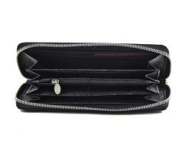 Кожаный женский клатч-кошелёк Petek 1759 black_2