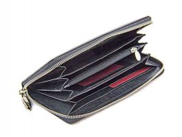 Кожаный женский клатч-кошелёк Petek 1759 black_1