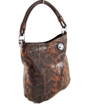 Сумка хобо женская Silhouette 98600 B393/B213-H reptile Brown