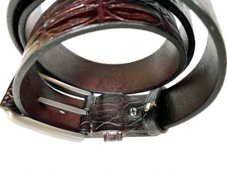 Ремень кожаный Премиум Dragon 3115 dbr