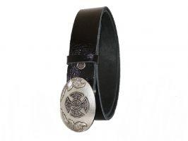 Ремень кожаный черный RMB-40P4b_1